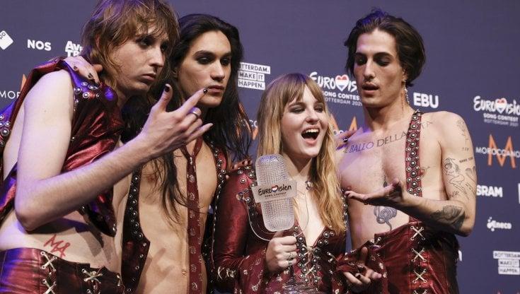 premiazione maneskin eurovision