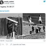 Giulia Stabile nel video di Malibu di Sangiovanni
