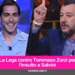 La Lega contro Tommaso Zorzi per l'insulto a Salvini