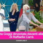 Loretta Goggi devastata davanti alla bara di Raffaella Carrà