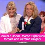 Uomini e Donne, Marco Firpo vuole tornare con Gemma Galgani