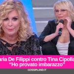 """Maria De Filippi contro Tina Cipollari:""""Ho provato imbarazzo"""""""