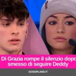 Rosa Di Grazia rompe il silenzio dopo aver smesso di seguire Deddy