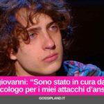 """Sangiovanni: """"In cura da uno psicologo senza successo"""""""