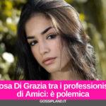 Rosa Di Grazia tra i professionisti di Amici: è polemica