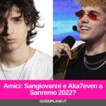 Sangiovanni e Aka7even a Sanremo 2022 tra i Big in gara
