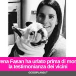 Serena Fasan ha urlato prima di morire: la testimonianza dei vicini