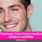 Tommaso Zorzi riceve insulti e minacce omofobe