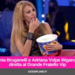 Sonia Bruganelli e Adriana Volpe litigano in diretta al Grande Fratello Vip