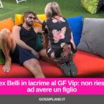 Alex Belli in lacrime al GF Vip: non riesce ad avere un figlio