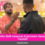 Alex Belli minaccia di picchiare Samy Youssef
