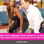Amedeo Goria palpeggia Ainett Stephens: ecco la reazione della fidanzata