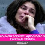 Dayane Mello violentata: la produzione de La Fazenda la minaccia