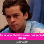 Tommaso Eletti ha avuto problemi di droga
