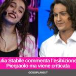 Giulia Stabile commenta l'esibizione di Pierpaolo ma viene criticata