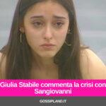 Giulia Stabile commenta la crisi con Sangiovanni