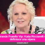 Grande Fratello Vip: Katia Ricciarelli si definisce una vipera