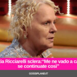 "Katia Ricciarelli sclera:""Me ne vado a casa se continuate così"""