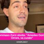 Tommaso Zorzi sbotta: ''Amedeo Goria? Orrore, va curato''