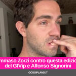 Tommaso Zorzi contro questa edizione del GfVip e Alfonso Signorini
