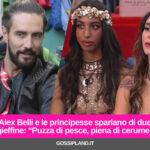 "Alex Belli e le principesse sparlano di due gieffine: ""Puzza di pesce, piena di cerume"""