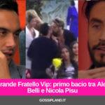 Grande Fratello Vip: primo bacio tra Alex Belli e Nicola Pisu