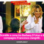 Scintille a cena tra Barbara D'Urso e il compagno Francesco Zangrillo