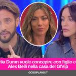 Delia Duran vuole concepire con figlio con Alex Belli nella casa del GfVip