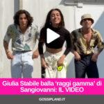 Giulia Stabile balla 'raggi gamma' di Sangiovanni: IL VIDEO