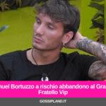 Manuel Bortuzzo abbandona il GfVip per un'infezione