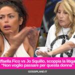 """Raffaella Fico vs Jo Squillo, scoppia la litigata: """"Non voglio passare per questa donna"""""""